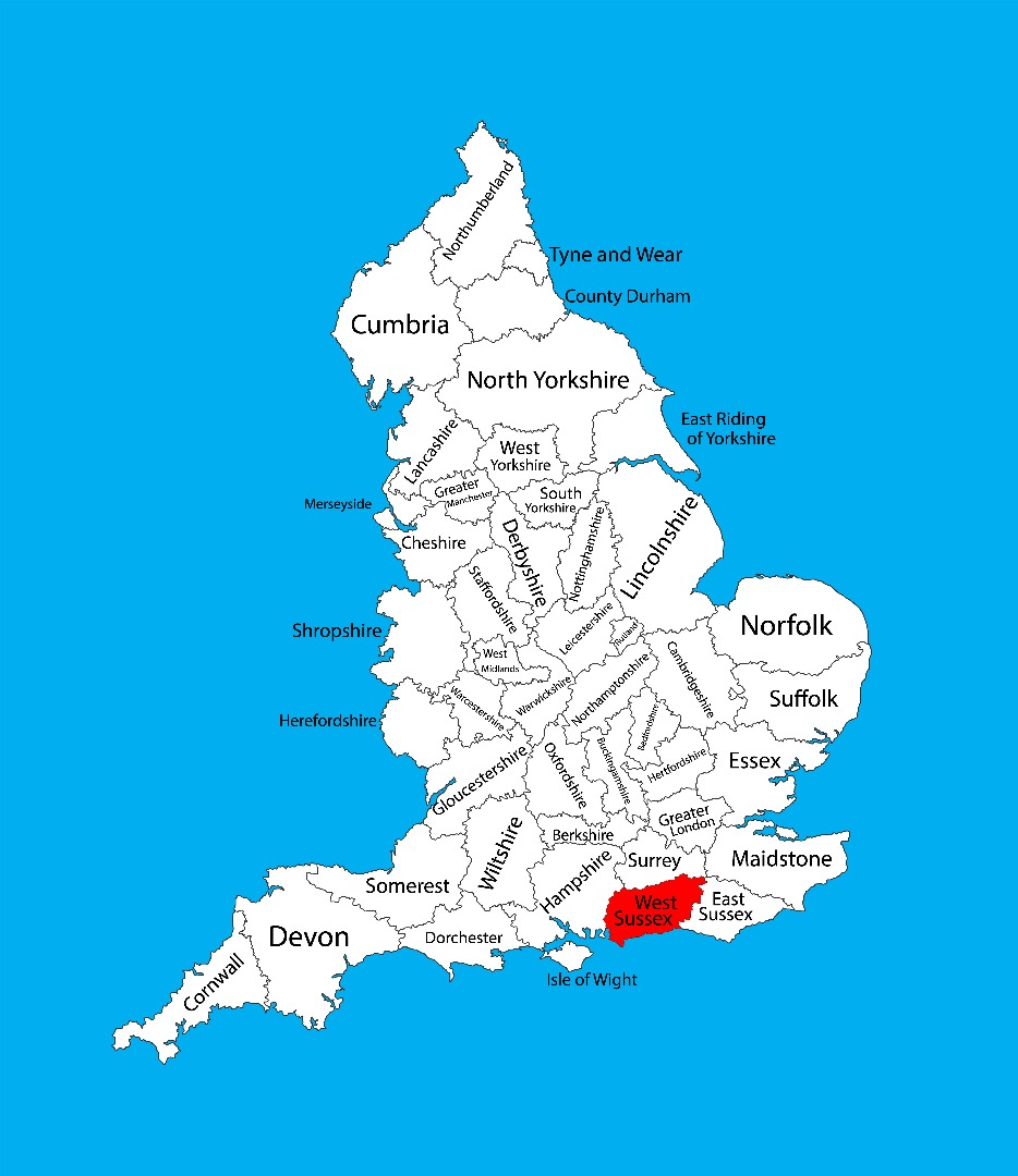 Maps of West Sussex   West Sussex County Council