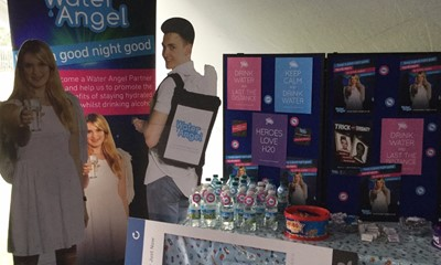 Water Angel at Chichester University Fresher's fair