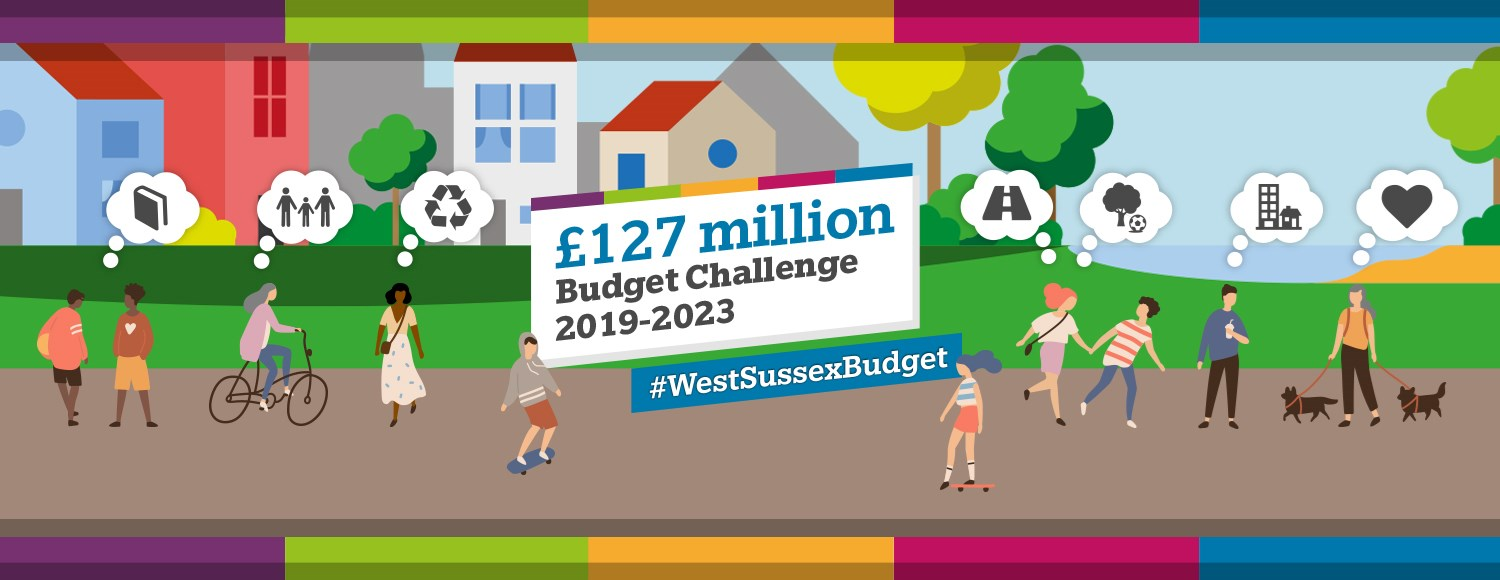 People thinking what the West Sussex budget should be spend on