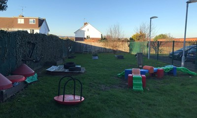 Outdoor play area at the centre
