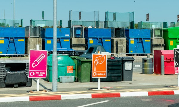 Skips at Worthing household waste recycling site
