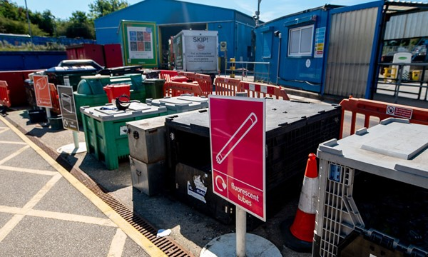Skips at Burgess Hill household waste recycling site