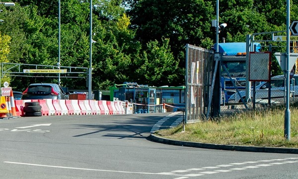 Entrance of Billingshurst household waste recycling site