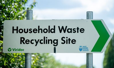 Household Waste Recycling site sign
