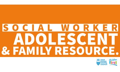 Social worker adolescent and family resource logo