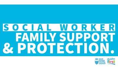 Social worker family support and protection logo