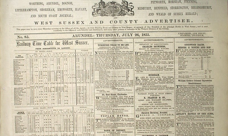 Image of The West Sussex Gazette 1855