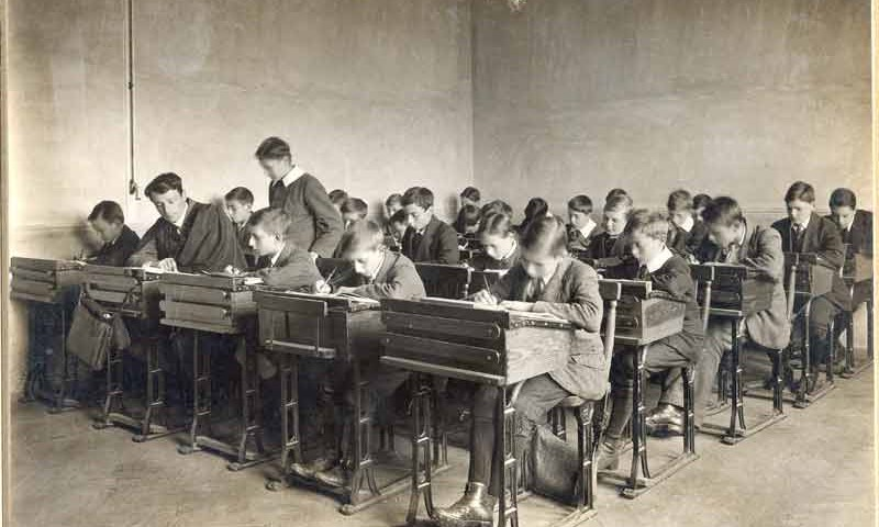 Old image of a school classroom (reference E198/19/7 (No 3))