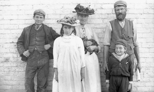 Archive photo of a family